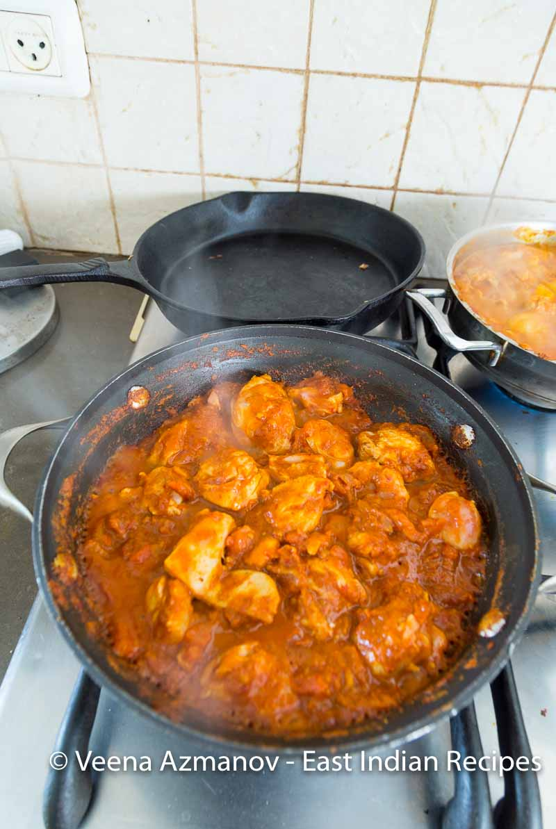 East Indian Chicken with Apricots in Bottle Masala