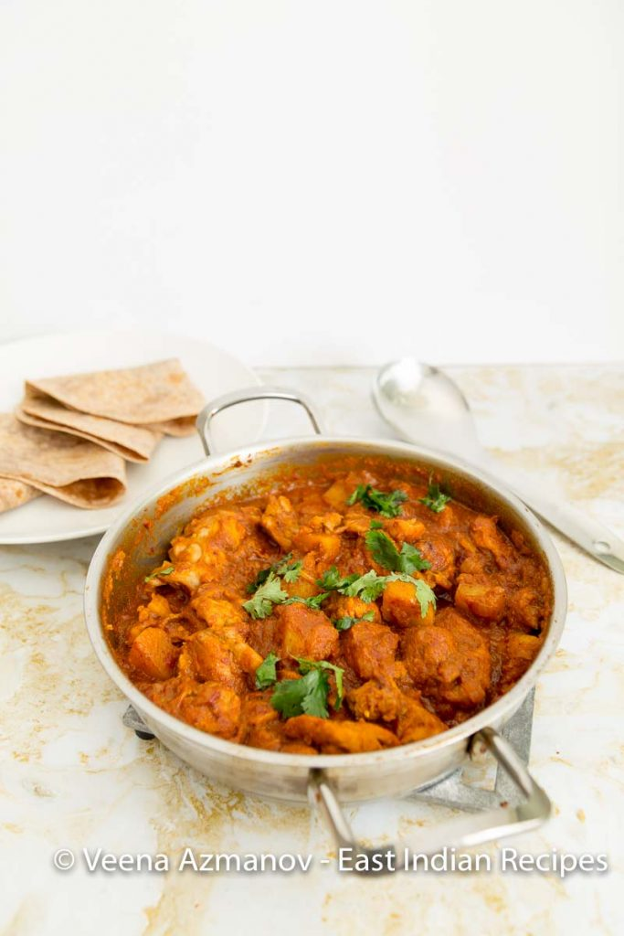East Indian Chicken Curry - Khudi - Chicken with Potatoes