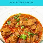 Pinterest image for khudi curry with mutton.