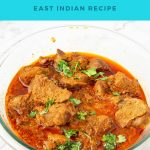 Pinterest image for mutton khudi curry,