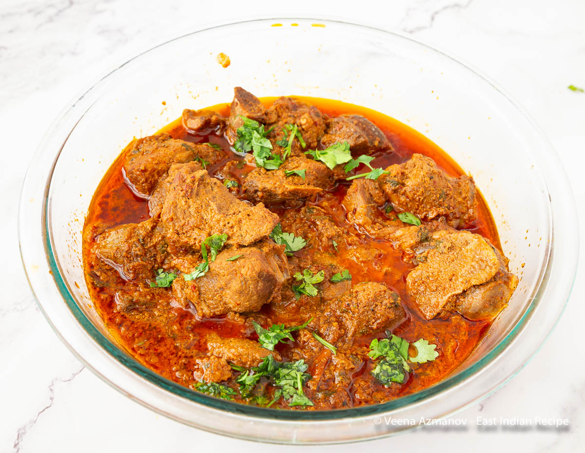 A khudi curry made with mutton and bottle masala.