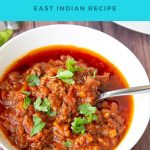 Pinterest image for ground beef curry.