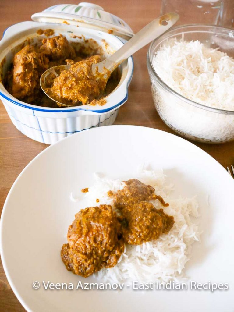 Chicken Frithad Masala, Traditional East Indian Chicken Curry