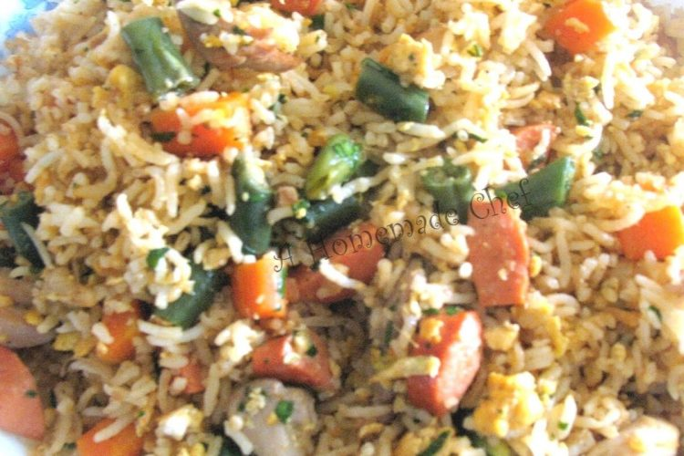 How to make fried rice Indo-Chinese