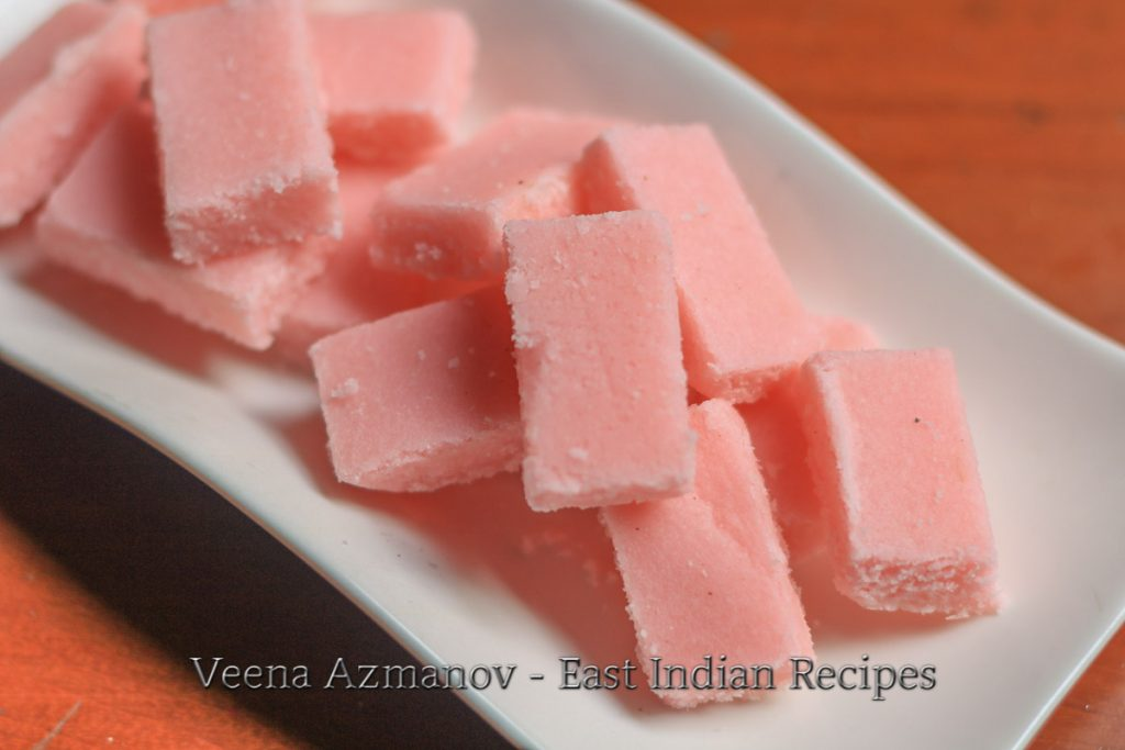 East Coconut fudge recipe also called East Indian Coconut cordial
