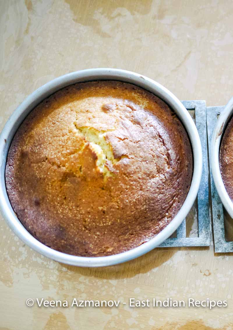 Making a plain maida sponge cake for tea is as easy as mix and bake.