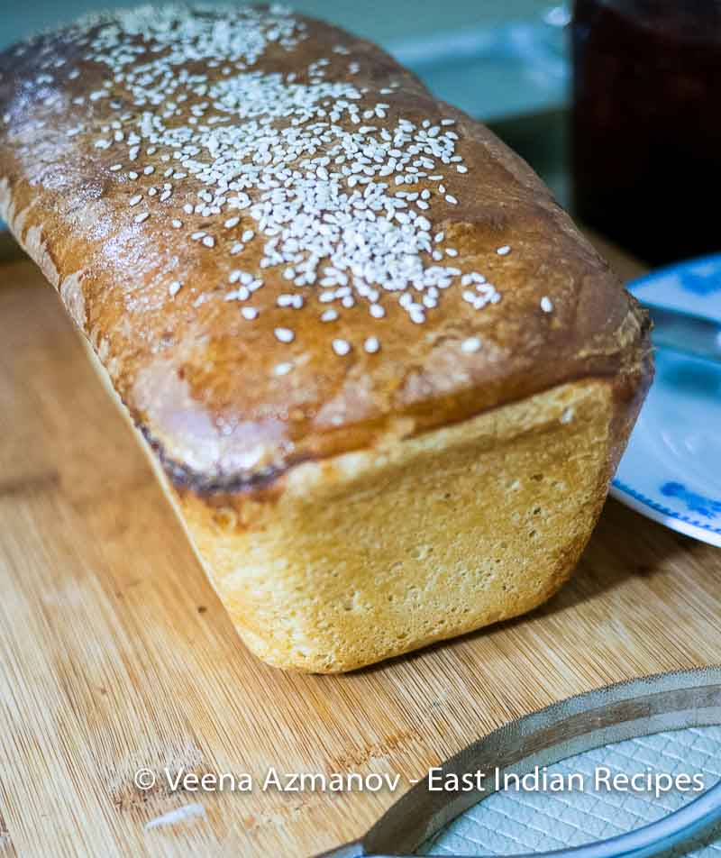 How to make traditional White Bread at home in a loaf pan