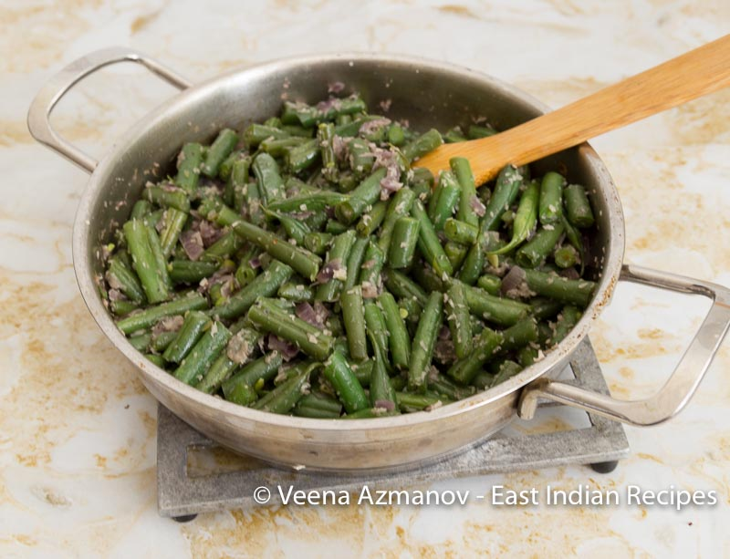 Grean Beans, French bean with coconut East Indian Recipe
