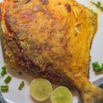 This East Indian style stuffed fried pomfret is absolutely delicious. The pomfret is slit and stuffed with a homemade masala that is easy to make