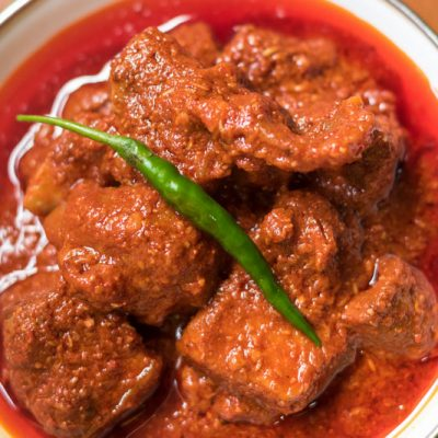 This pork vindaloo is a famous East Indian dish which is full of flavor and loaded with a variety of spices