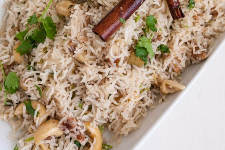 Traditional East Indian Rice made for Weddings with Fruit and Nuts