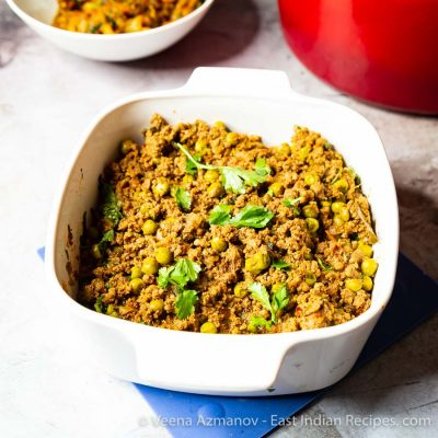 Ground Beef curry with peas and East Indian Bottle Masala