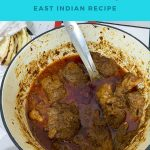 Pinterest image for mutton coconut curry