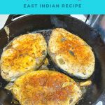 Pinterest image for east Indian pan fried fish.