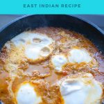 Pinterest image for egg curry.