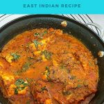 Pinterest image for East Indian fish curry.